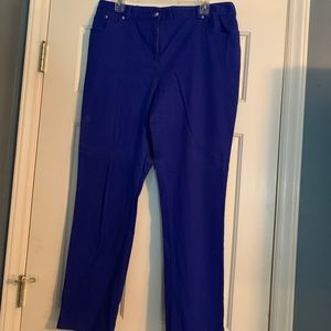 Ruby Rd. Royal blue cotton jean slacks. Size 12.